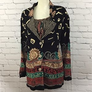 VNTG Carole Little 2pc top and jacket size 10